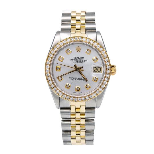 Rolex Rolex Datejust 6827 31MM White Diamond Dial With 1.05 CT Diamonds Image 0