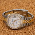 Rolex Rolex Datejust 6827 31MM White Diamond Dial With 1.05 CT Diamonds Image 1