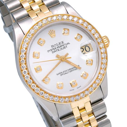 Rolex Rolex Datejust 6827 31MM White Diamond Dial With 1.05 CT Diamonds Image 2