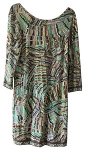 Trina Turk short dress green/purple/grey on Tradesy