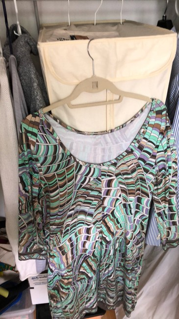 Trina Turk short dress green/purple/grey on Tradesy Image 1