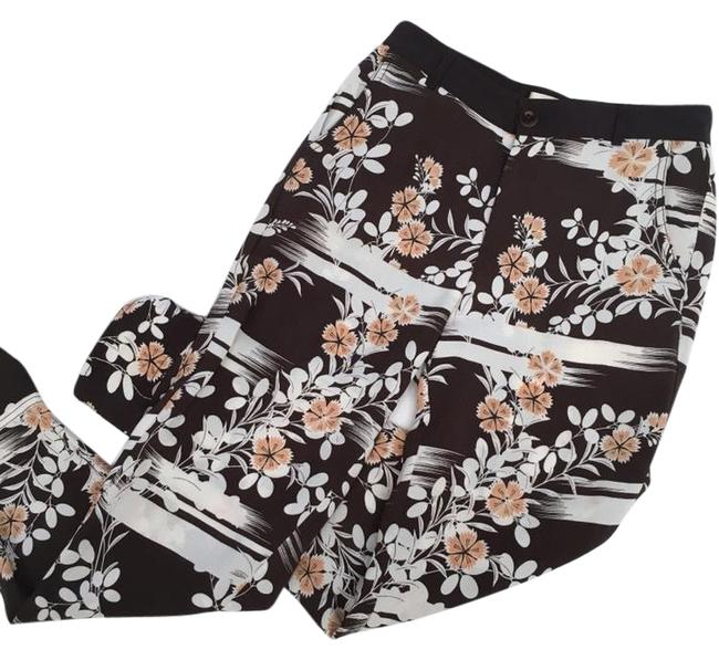 Item - White Brown Elevenses Wildflower Jogger Pants Size 2 (XS, 26)