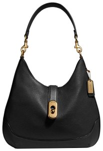 Coach Leather Mix Leather Exotic Vintage Hobo Bag