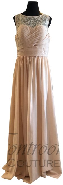 Item - Nude Pink Bridesmaid Sweethear Keyhole Corset Back A-line Gown Long Formal Dress Size 12 (L)
