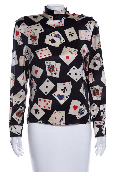 Preload https://img-static.tradesy.com/item/25318607/multicolor-vintage-multi-playing-cards-print-blouse-size-6-s-0-0-650-650.jpg