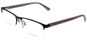 Tommy Hilfiger TH1528-807-53 Rectangle Men's Black Frame Clear Lens Eyeglasses