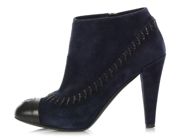 Item - Blue Navy Suede Cap Toe Ankle Boots/Booties Size EU 39 (Approx. US 9) Regular (M, B)