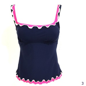 Profile by Gottex Profile By Gottex Blue Pink Ruffle Tankini Top NWT