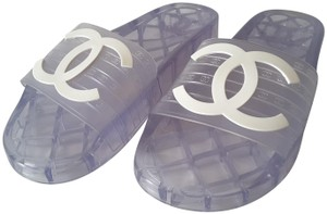 Chanel Pool Slides Transparent Mules