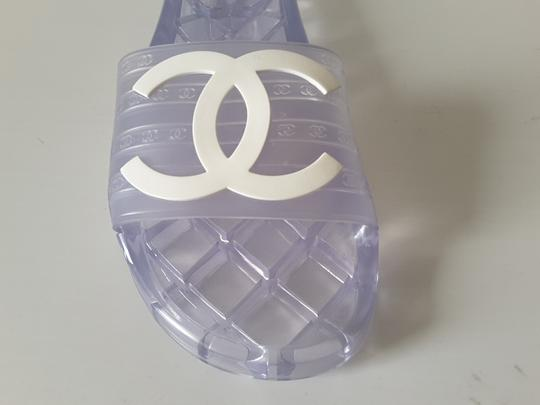Chanel Pool Slides Transparent Mules Image 1