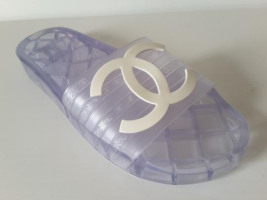 Chanel Pool Slides Transparent Mules Image 2