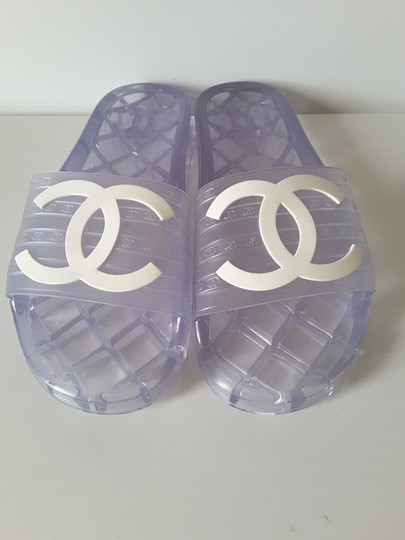Chanel Pool Slides Transparent Mules Image 3