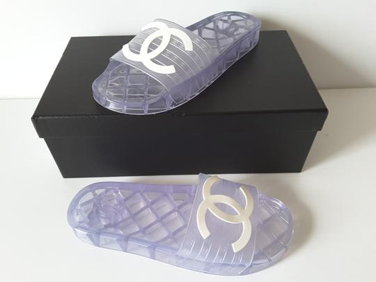 Chanel Pool Slides Transparent Mules Image 4