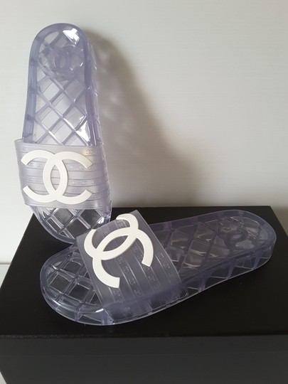 Chanel Pool Slides Transparent Mules Image 7
