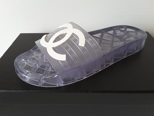 Chanel Pool Slides Transparent Mules Image 9