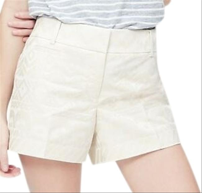 "Item - Cream Jacquard 4"" Inseam Shorts Size 6 (S, 28)"