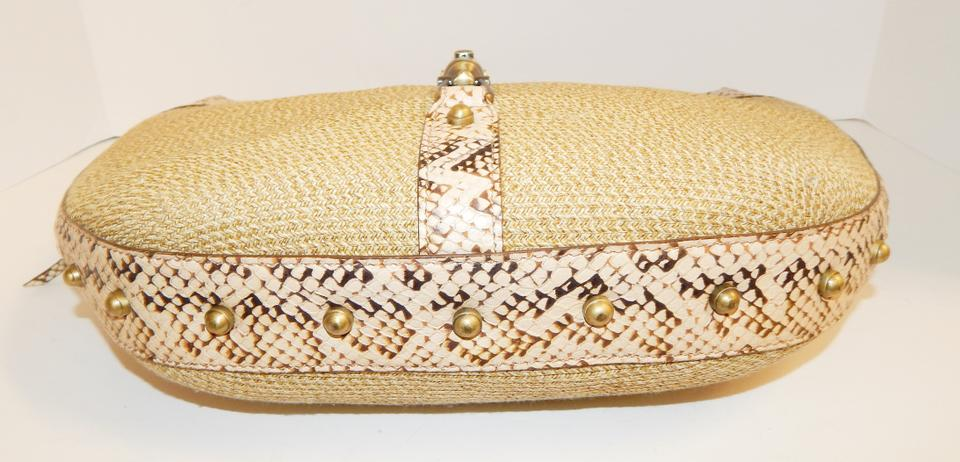 0b539e557619 Eric Javits Straw Snake Piston Shoulder Bag Image 11. 123456789101112