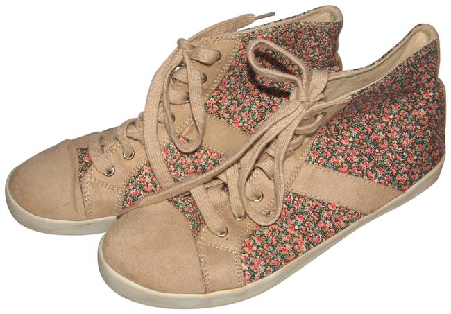 Item - Multi-color Suede and Floral High Top Fashion Sneakers Size US 8 Regular (M, B)
