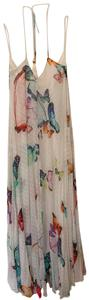 white with colorful butterflies Maxi Dress by Rococo Sand