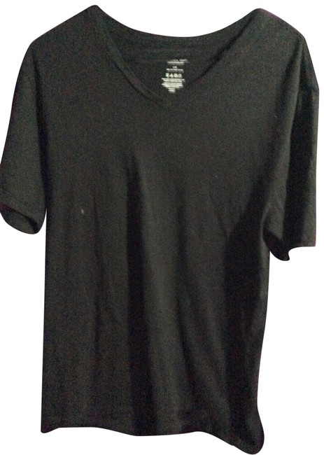 Item - Black Men's V Neck Tee Shirt Size 12 (L)