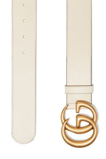 Gucci GUCCI GG LOGO Leather belt SIZE 95 WIDE 4CM Image 1