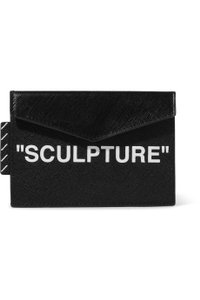Off-White™ Printed textured-leather cardholder