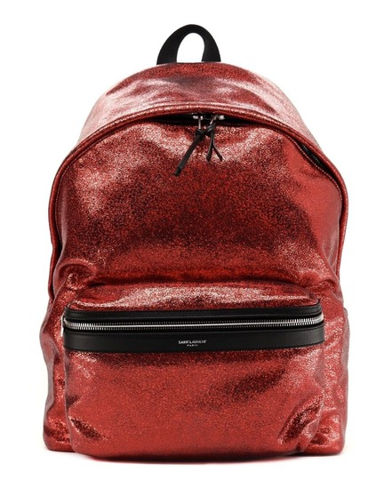 Preload https://img-static.tradesy.com/item/25319518/saint-laurent-city-metallic-glitter-red-cotton-leather-backpack-0-0-540-540.jpg