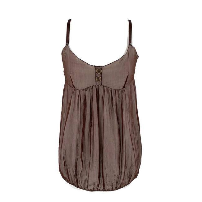 Item - Brown Small Blouse Size 4 (S)