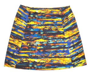 Cédric Charlier Mini Printed Cotton Mini Skirt