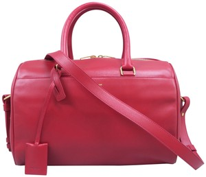 Saint Laurent Classic Duffle Satchel in Red