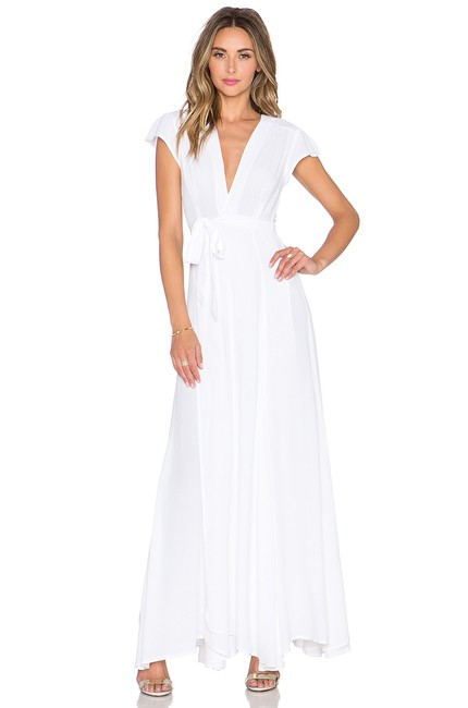 Item - White Sid Wrap Long Casual Maxi Dress Size 4 (S)