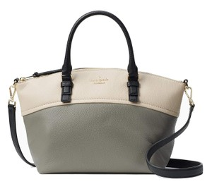 Kate Spade Small Dixon Jackson Street Pebbled Leather Shoulder Satchel in Willow Multi