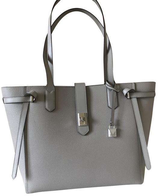 Item - Bag Large Pearl Gray Leather Tote