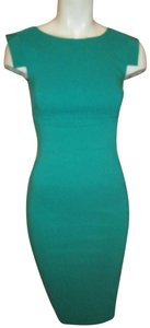 Hybrid Apparel Wiggle Stretchy Sleeveless Teal 001 Dress
