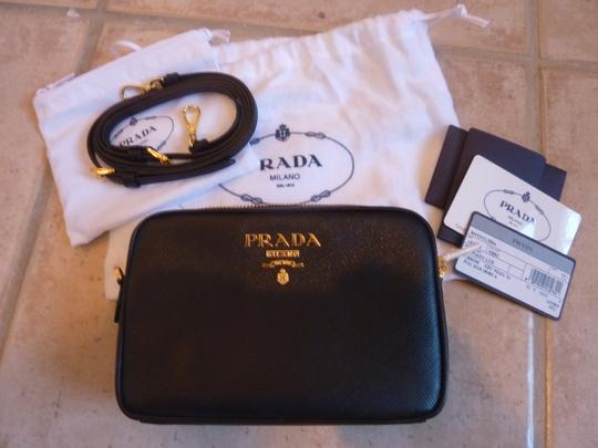 Prada Leather Logo Italian Cross Body Bag Image 2