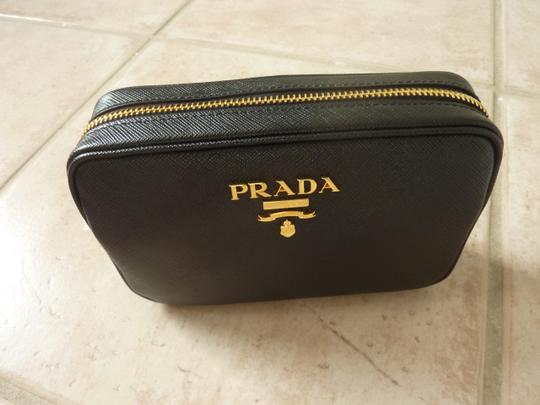 Prada Leather Logo Italian Cross Body Bag Image 4