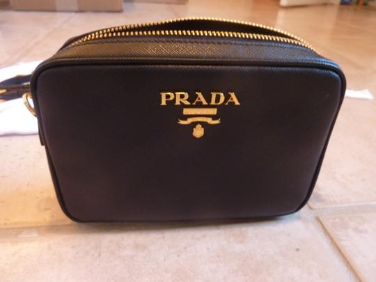 Prada Leather Logo Italian Cross Body Bag Image 5