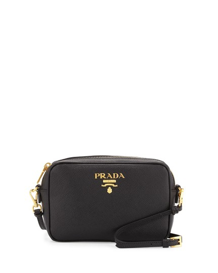 Prada Leather Logo Italian Cross Body Bag Image 7