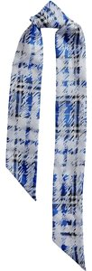 Burberry Burberry Scribble Check Silk Twill Twilly Slim Scarf
