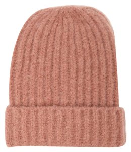 aa2a75af47cc2 Forever 21 Fuzzy Brushed Knit Beanie Hat Mauve