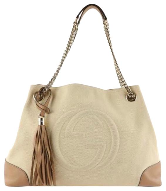 Gucci Bag Soho Beige Canvas Tote Gucci Bag Soho Beige Canvas Tote Image 1
