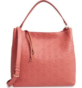MCM Hobo Leather Summer Tote in pink