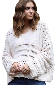 f8857a599d9 Angie Boho Festival Chenille Holey Sweater