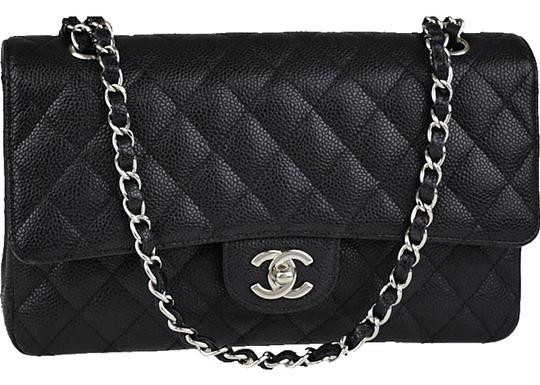 Preload https://item5.tradesy.com/images/chanel-classic-double-flap-quilted-medium-caviar-in-black-leather-shoulder-bag-25321794-0-0.jpg?width=440&height=440