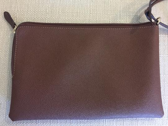 Coach Cosmetic Brown Canvas Wristlet in tobacco Image 1