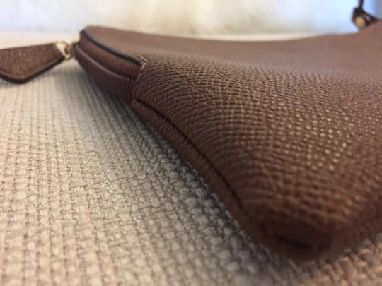 Coach Cosmetic Brown Canvas Wristlet in tobacco Image 2