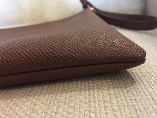 Coach Cosmetic Brown Canvas Wristlet in tobacco Image 3