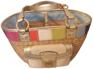 Coach Tag Tote in NATURAL AND MULTI