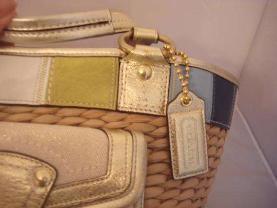 Coach Tag Tote in NATURAL AND MULTI Image 1