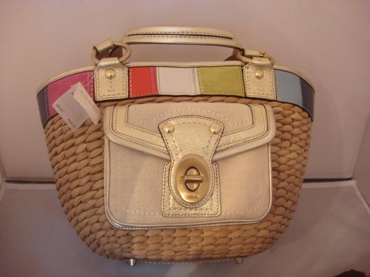 Coach Tag Tote in NATURAL AND MULTI Image 2